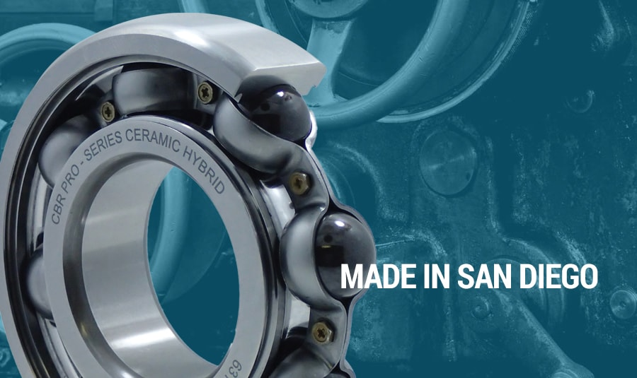 Ceramic Hybrid Bearings Made by CBR Bearing in San Diego Give Racers and Mechanics an Edge